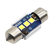 Недорогие -2x-festoon-31mm-4-smd-3030-cnabus-white-led-car-dome-light-lamp-bulbs-3021-6428-de3175 12-24v