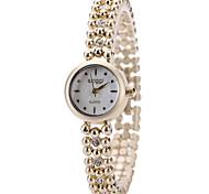 Недорогие -Женские Модные часы Наручные часы / Кварцевый сплав Группа Элегантные часы Cool Повседневная Золотистый
