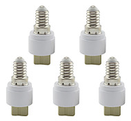 cheap -Lamp Base E14 to G9 Ceramic Socket Holder Converter for Lamp Lights Bulb (5 Pieces)