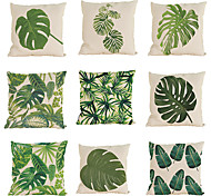 cheap -9 pcs Linen Pillow Case Pillow Cover, Solid Colored Textured Tropical Beach Style