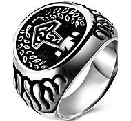 Кольца Для вечеринок Повседневные Спорт Бижутерия Титановая сталь Мужчины Массивные кольца Кольцо 1шт,6 7 8 9 10 Какна фотографии