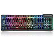 cheap -motospeed Wired Multicolor Backlit 104 Gaming Keyboard Waterproof Backlit