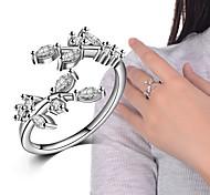 Недорогие -Кольца Свадьба Для вечеринок Особые случаи Повседневные Бижутерия Сплав Цирконий Кольца на вторую фалангу Классические кольца Кольцо 1шт,