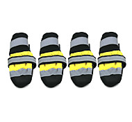 Dog Shoes & Boots Socks Waterproof Keep Warm Fashion Color Block Yellow Red For Pets