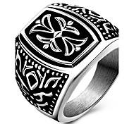 Кольца Для вечеринок Повседневные Спорт Бижутерия Титановая сталь Мужчины Массивные кольца Кольцо 1шт,6 7 8 9 Какна фотографии