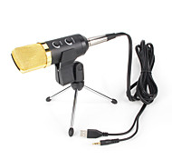 cheap -2017 New Useful hot wired high quality stereo condenser microphone with holder clip for chatting karaoke portable PC