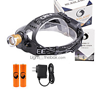 U'King Headlamps Headlight LED 3000 lm 4 Mode Cree XP-E R2 with Batteries and Charger Zoomable Adjustable Focus Multifunction Compact
