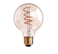 cheap -ONDENN 1pc 4W 400 lm B22 E26/E27 LED Filament Bulbs G80 1 leds COB Dimmable Warm White AC 220-240V AC 110-130V