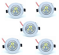 5pcs 3W Led Ceilling Lamp 300lm Warm/Cool White Color Led Recessed Downlights for Home and Hotel 220-240V