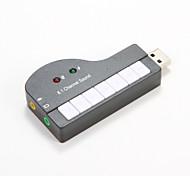USB виртуальное пианино 8.1 канальный звук образный внешний 3D-стерео аудио USB звуковой адаптер конвертер для планшетных ПК ноутбук