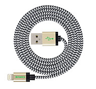 abordables -MFI 3 m (10 pies) de cable trenzado rayo de sincronización y carga USB para el iphone Apple 7 6s 6 Plus SE 5s 5c 5 plus / ipad air / Mini iPad