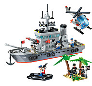 cheap -ENLIGHTEN 820 Building Blocks Toys Model Building Kits Toys Warship Ship Military DIY Plastic Boys Boys' 614 Pieces