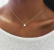 cheap -Women's Pendant Necklace  -  Star Unique Design, Dangling Style Gold, Silver Necklace For Birthday, Engagement, Daily