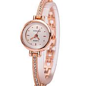 Mulheres Bracele Relógio Relógio de Pulso Simulado Diamante Relógio Quartzo imitação de diamante Strass Lega Banda Pendente Dourada