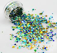 1bottle New Mini Round Thin Paillette Colorful Design Nail Art Decorations Fashion DIY Sticker for Gel Polish Nail Glitter P37