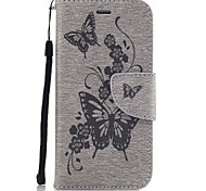 For iPhone 7Plus 7 PU Leather Material Butterfly Flower Solid Color Phone Case 6s Plus 6Plus 6S 6 SE 5s 5
