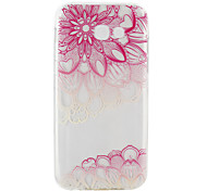 For Samsung Galaxy A3(2017) A5(2017) Ultra-thin Transparent Case Back Cover Case Diagonal pink Flower Soft TPU for  A5(2016) A3(2016)