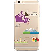 Capinha Para Apple iPhone X iPhone 8 Plus Transparente Estampada Capa Traseira Vista da cidade Macia TPU para iPhone X iPhone 8 Plus