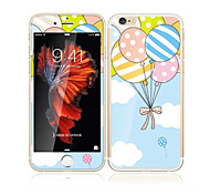 cheap -For Apple iPhone 6s/6 4.7 Tempered Glass with Soft Edge Full Screen Coverage Front Screen Protector and Back Protector Balloon Cartoon Pattern
