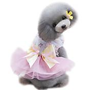 Собаки смокинг Платья Одежда для собак Лето Принцесса Мода Свадьба Зеленый Розовый Светло-синий