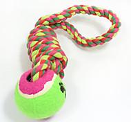 Недорогие -Игрушка для котов Игрушка для собак Игрушки для животных Шарообразные Жевательные игрушки Интерактивный Игрушка для очистки зубов Веревка
