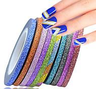 cheap -12rolls/set Stickers & Tapes / Nail Sticker / Foil Sticker Nail Stamping Template Nail Art Design Glamorous Glitter / Nail Art DIY Tool