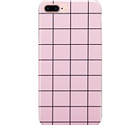 For  IMD Case Back Cover Case Pink Lattice Soft TPU for  iPhone 7 Plus iPhone 7 iPhone 6s Plus 6 Plus iPhone 6s 6
