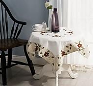 abordables -para la venta cuadrado mantel bordado 100% algodón fiesta de bodas mantel decoración 85 * 85 cm (34 * 34 pulgadas)