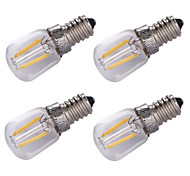 cheap -4pcs 1.5W 100 lm E14 LED Filament Bulbs 2 leds COB Decorative Warm White AC 220V
