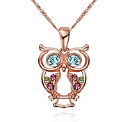 Women's Pendant Necklaces Chain Necklaces Crystal AAA Cubic Zirconia Crystal Glass Rose Gold Plated Alloy GeometricBasic Unique Design