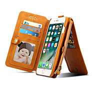 Luxury Retro Leather Flip Multi-function Removable Wallet Card Money Bag Holder Stand Cases For iPhone 7 7 Plus