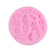 Недорогие -девочка помадной торт шоколад смолы глины конфеты силиконовые формы