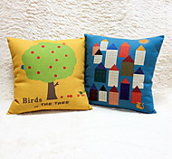 1 pcs Good Quality Cotton/Linen Pillow CaseGraphic Prints Accent/Decorative Outdoor Modern/Contemporary Casual Office/Business