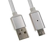 Недорогие -Micro USB 2.0 USB 2.0 Адаптер USB-кабеля Плетение Магнитный Кабель Назначение Samsung Huawei LG Nokia Lenovo Motorola Xiaomi HTC Sony 100