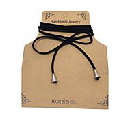 Недорогие -Жен. Кожа Ожерелья-бархатки Ожерелья с подвесками  -  Тату-дизайн В виде подвески кисточка Одинарная цепочка Черный Ожерелье Назначение