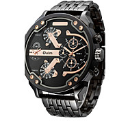cheap -Oulm Men's Wrist Watch / Military Watch / Sport Watch Water Resistant / Water Proof / Large Dial / Punk / Cool / Dual Time Zones