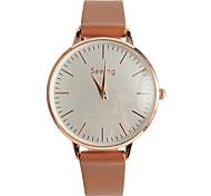 Недорогие -Жен. Модные часы Японский Кварцевый / PU Группа На каждый день Черный Белый Коричневый Розовый Бежевый