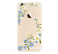 cheap -Case For Apple iPhone X iPhone 8 Plus Transparent Pattern Back Cover Flower Soft TPU for iPhone X iPhone 8 Plus iPhone 8 iPhone 7 Plus