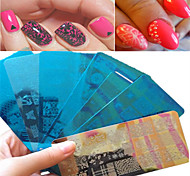 cheap -1pcs Sweet Beautiful Lace Design Stamping Plate Nail Stainless Steel Stamping Plate Colorful Design Manicure Beauty Stencils Nail Tool BC01-10