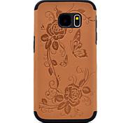 для Samsung Galaxy s8 плюс s7 тисненой бабочки и цветочным узором PU кожи и черный TPU комбо мягкий случай телефона s8