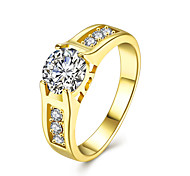 Women's Ring AAA Cubic ZirconiaBasic Circular Unique Design Rhinestone Geometric Circle Simple Style Floral Crossover Fashion Vintage