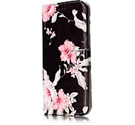 For Samsung Galaxy S7 S8 Case Cover Flower Pattern Painted Card Holder PU Leather Material Mobile Phone Case S5 S6 S7Edge S6Edge