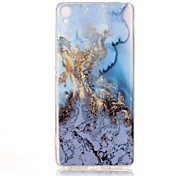 For Sony Xperia XA Case Cover Marble High - Definition Pattern TPU Material IMD Technology Soft Package Mobile Phone Case