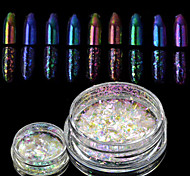 1 bottle New Nail Art Chameleon Glitter Powder Nail Art Starry-sky&Mirror Effect Nail Art DIY Beauty Sparkling Powder Glitter Decoration BS28-35