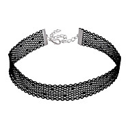 cheap -Women's Unique Design Tattoo Style Basic Choker Necklace Jewelry Lace Fabric Choker Necklace , Wedding Anniversary Birthday Thank You