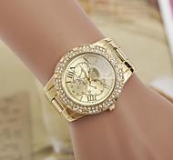 cheap -Women's Simulated Diamond Watch Fashion Watch Quartz Swiss Imitation Diamond Designers Alloy Band Elegant Silver Gold