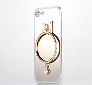 Недорогие -Для Зеркальная поверхность Своими руками Кейс для Задняя крышка Кейс для Один цвет Твердый Акрил для AppleiPhone 7 Plus iPhone 7 iPhone