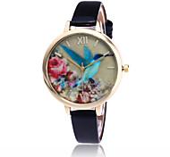 Fashion Birds Watch Casual Women Leather Flower Quartz Watch Gift Relogio Feminino