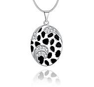 Женский Ожерелья с подвесками Кристалл Круглый Овальной формы Геометрической формы Стерлинговое серебро Хрусталь Искусственный бриллиант