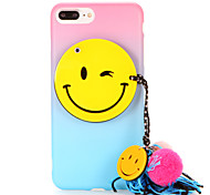 For IMD Frosted Case Color Gradient Smiling Face Colour Ball Tassel DIY Back Cover Case Soft TPU for Apple iPhone 7 7 Plus 6s 6 Plus